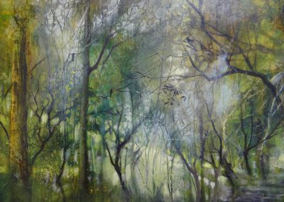 14.Forest Glade.Oil on panel.50x40cm Frame 64x54cm.£1200