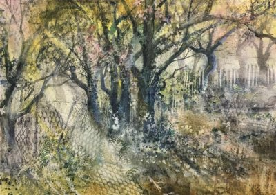20.Blossom in the orchard.Watercolour.54x35cm.Frame 72x56cm..£1100