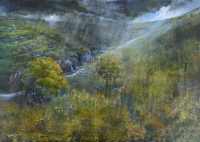 Fleeting.(Cowside Beck ,Yew Cogar Scar).Oil.Framed £2250