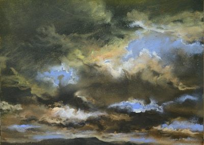 Sky study No 2.Oil.28x23cm. Framed £395
