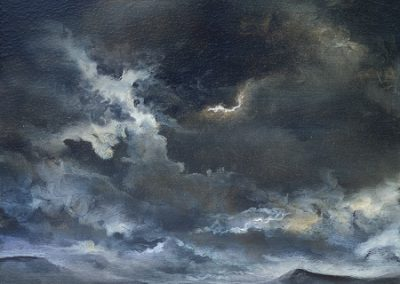 Sky study (Pen y ghent and Darnbrook).Oil 28x23cm. Framed £395