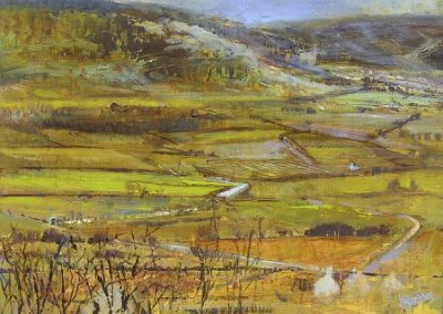 On Site Study-From Helsington Church to The Howe,Lyth valley.Oil on panel.30x23cm.£625 SOLD