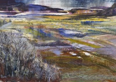 New Wetlands -Lyth valley in October.Watercolour.£995Sold