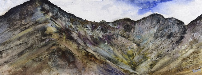 On site sketch-Fleetwith Pike (Buttermere) in Spring.Watercolour.£895