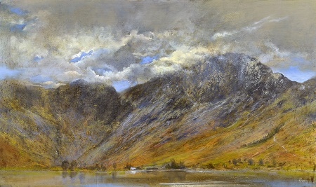 Char Cottage .(Buttermere and Haystacks.) Oil on panel. 90x52cm. £2600 sold