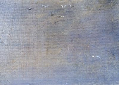 Gulls on the lake.Oil on Panel.15x30cm.£225 Sold