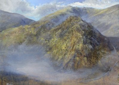 The Bell towards Wetherlam Oil on Panel.50x40cm.£995 Sold