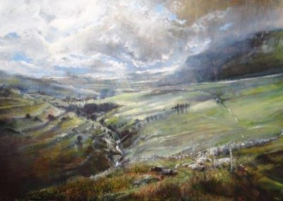 Summer Storms No 1 towards Pen-y Ghent Version 2 Oil 110x60cm GBP2995 Sold