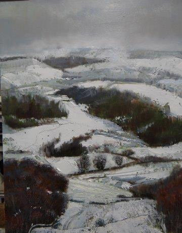 Patterns in the valley.Oil on Board.30X40CM.£595 Sold