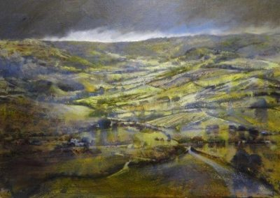 Summer Storm over the hill-No 2 (Scouts Scar to Crosthwaite) 52x80cm.Oil.£2200