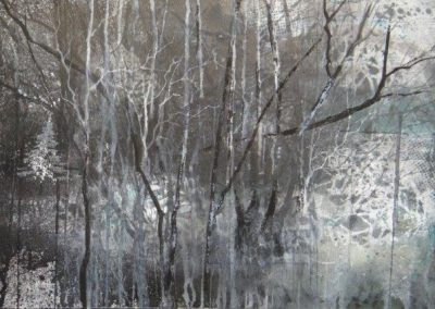 Boundary,Watercour and ink,53x35cm frame 57x74cm.£895