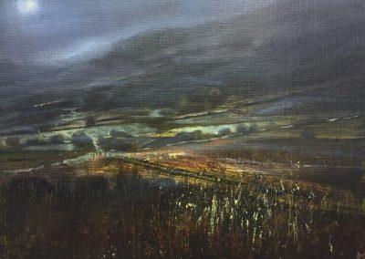 Dawn Mist.Oil.28x19cm Frame 42x33cm.£595