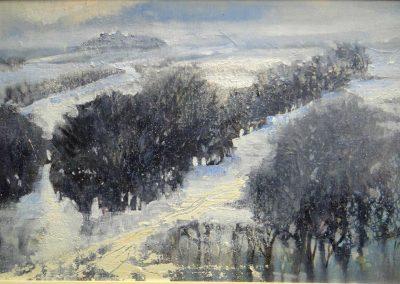 Frozen land.Oil on board,30x20cm£425