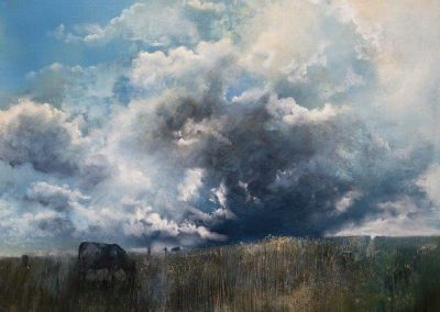 Cloud and Cow.Oil.60x50 cm.£1500sold