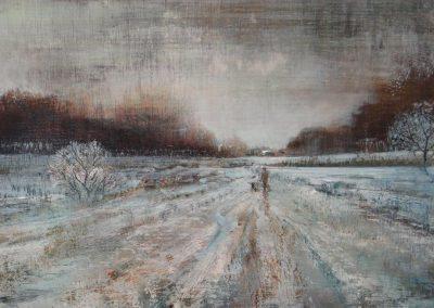 Low Light.Oil on panel.54x27cm £795
