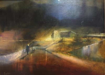 Moonlit Walk.Oil.30x40cm Frame 52x42cm.£895