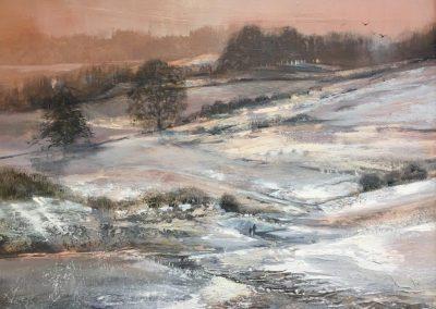 Path to Wise Ean Tarn,Sawrey.Oil.48x38cm Frame 62x52cm.£1200.sold