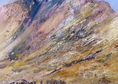 Pink Haystacks-Buttermere Watercolour 77x85cm GBP1250 Sold