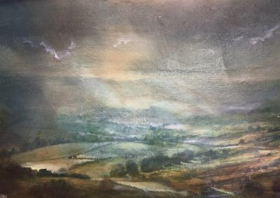 Pink Light.( from Scots Scar to Crosthwaite) Oil .46x30cm.Frame 60x45cm..£1200