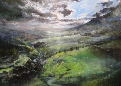 Summer storms No 2 towards Pen-y-ghent Version 2 Oil 76x55cm GBP2500