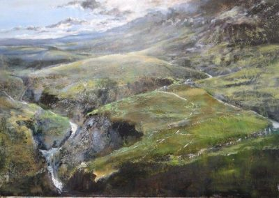 Summer storms No 3 towards Pen-y-ghent Version 2. Oil 40x60cm. GBP1750 Sold