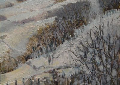 Tree line.Oil .Image size 21x15cm framed 33x40cm.£225