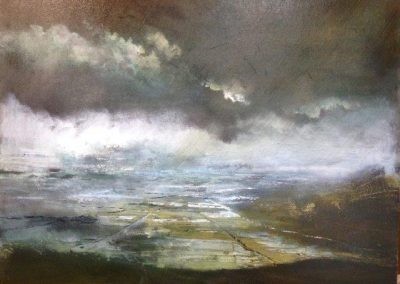 Wet and Stormy (over Lyth valley) Oil 30x40cm.framesold