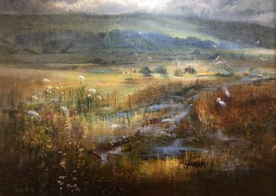 Wetlands- Lyth Valley.Oil.30x40cm Frame 52x42cm £895