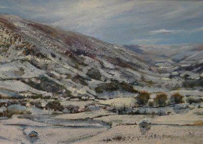 Winter comes to Littondale.Oil.Image 35x20cm.£450