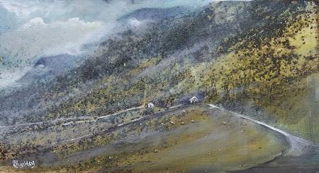 Two Barns(Pen-y-Ghent)20x40cm.Oil.Framed £495