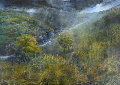 Fleeting.(Cowside Beck ,Yew Cogar Scar).Oil.Framed £2250