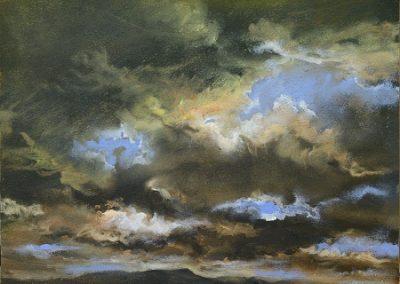 Sky study No 2.Oil.28x23cm. Framed £395
