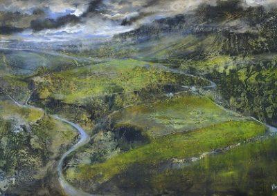 Summer storms over Pen-y-ghent No 2..Oil 40x60cm.Framed £1750
