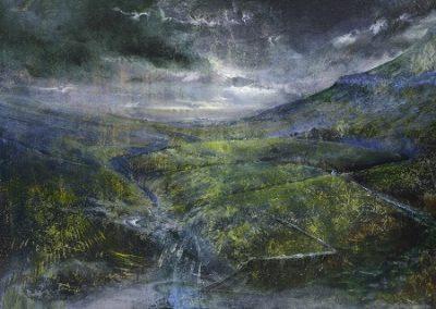 Summer storms over Pen-y-ghent No 1.Oil 76x55cm .Framed £2500