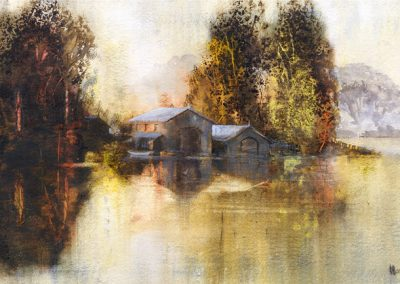 Boathouse No 3.Watercolour.£895.jpg SOLD
