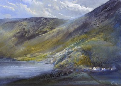 On site Study-Ennerdale towards Anglers Crag. Oil on board. 30x40cm.£695 SOLD
