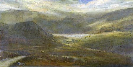 On site sketch-Ennerdale towards Bowness Knott..Oil on Panel.60x30cm.£995.Sold