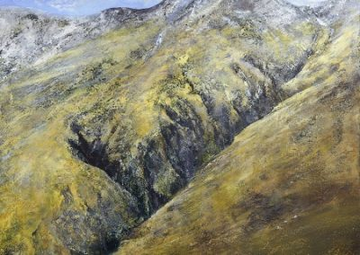 Clarity of Light.Ill Gill,Kirk Fell Wasdale.Oil on Panel.100x100cm.£2,995 Sold