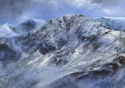 On site sketch-Ennerdale towards Bowness Knott..Oil on Panel.60x30cm.£995
