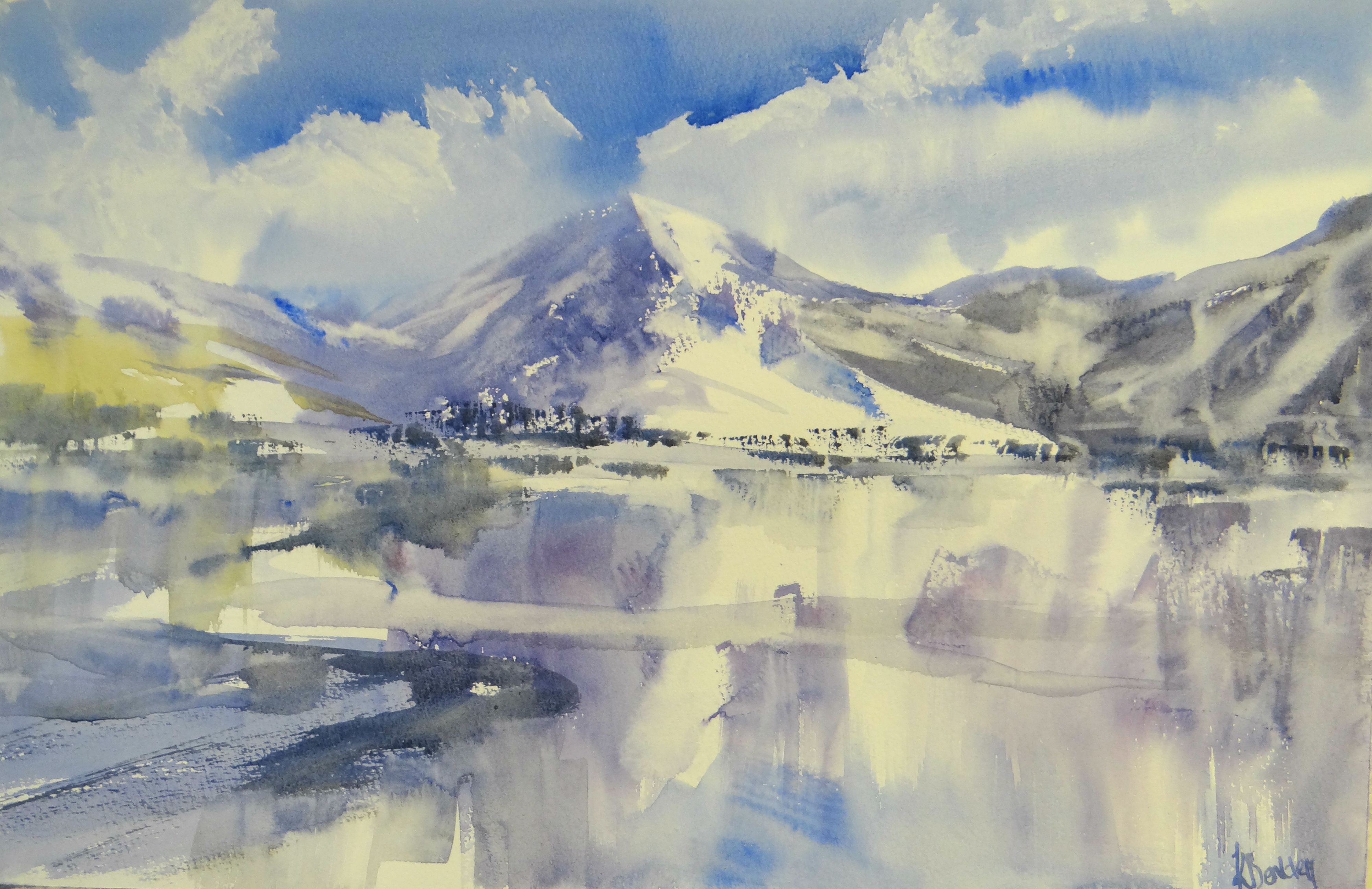Snowy landscape - Painting