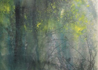 Edge of the Woodland.Print and watercolour.22x22cm frame 40x40cm..£395