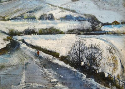 Field Patterns in the snow.30x25cmframe 43x38cm.£495