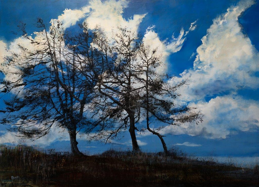 Kate Bentley SWA.Bright and Breezy.Oil on Board.890x1220mm .£4500