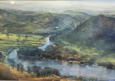 Kate Bentley Lake Windermere No 1 ( from Gummers Howe towards Newby Bridge) Acrylic and Oil,30x60cm.Frame 72x43cm.£1195
