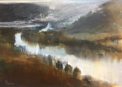 Kate Bentley Lake Windermere No 3. ( from Gummers Howe towards Newby Bridge) Acrylic and Oil,28x40cm Frame 53x41cm.£995