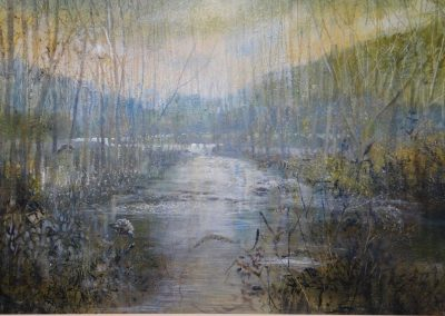 River.Oil.Image 77x47cm Frame 90x70cm.£1750sold