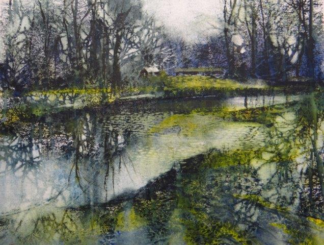 Spring Cometh.Pure watercolour.35x44cm.Frame 69x59cm.£1300r