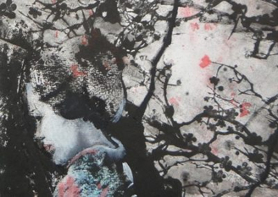 Cherry Blossom.Photgraphic lithograph and hand embellished25x55cm.Sold