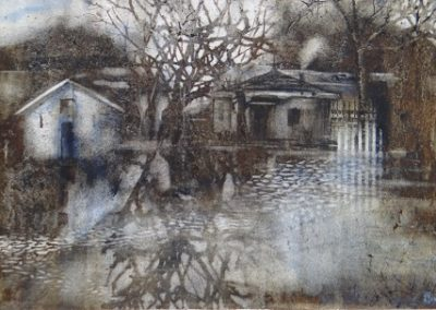 Flooded fields.Watercolour.40x27cm.£695