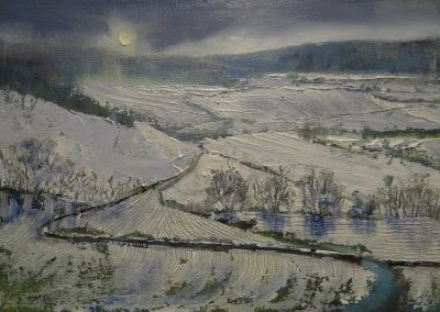 Winter Light above Austwick.20x30cm.£395.Sold